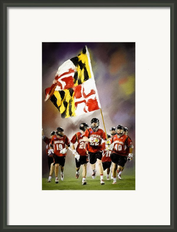 Team Maryland  Framed Print By Scott Melby