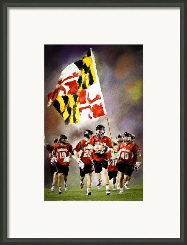 Team Maryland  Framed Print By Scott Melby
