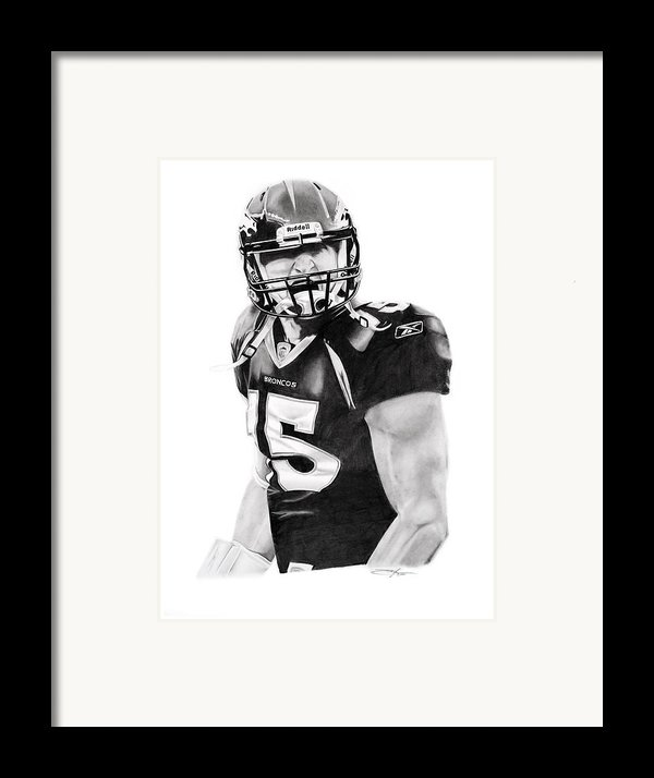 Tebow Framed Print By Don Medina