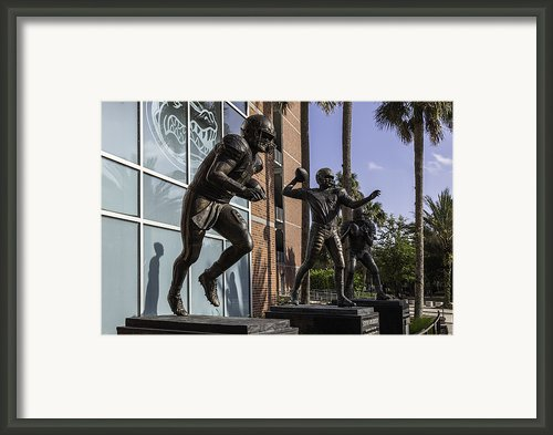 Tebow Spurrier And Wuerffel Uf Heisman Winners Framed Print By Lynn Palmer