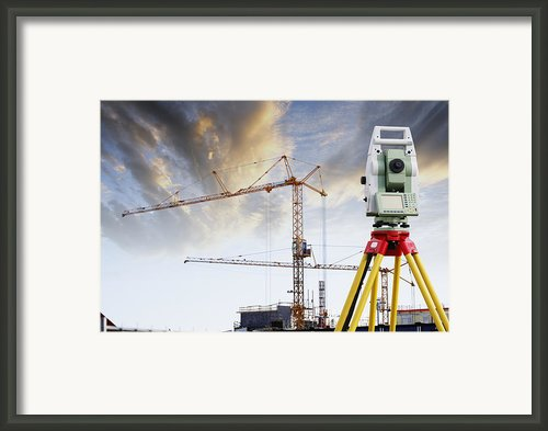Technology And Construction Framed Print By Christian Lagereek
