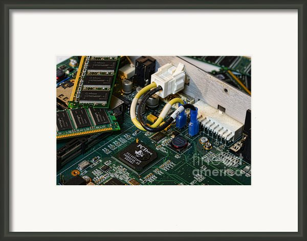 Technology - The Motherboard Framed Print By Paul Ward