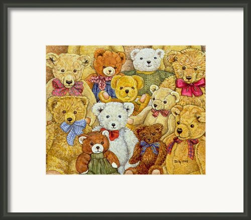 Ted Patch Framed Print By Ditz