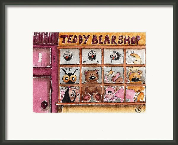 Teddy Bear Shop Framed Print By Lucia Stewart