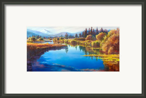 Tee Time Sunriver Meadows Framed Print By Pat Cross