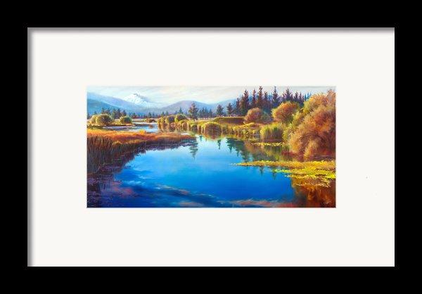 Tee Time Sunriver Meadows Framed Print By Pat Cross