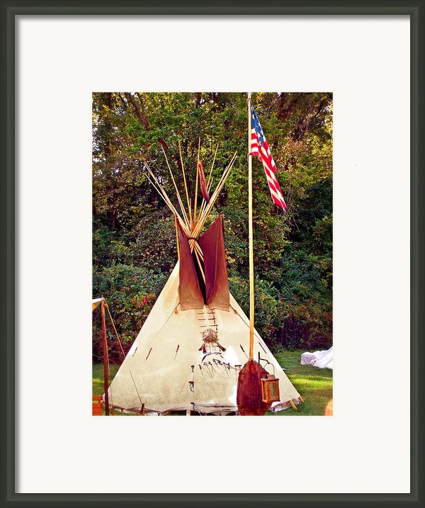 Teepee Framed Print By Marty Koch