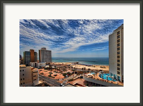 Tel Aviv Summer Time Framed Print By Ron Shoshani