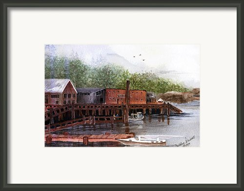 Telegraph Cove Framed Print By Meldra Driscoll