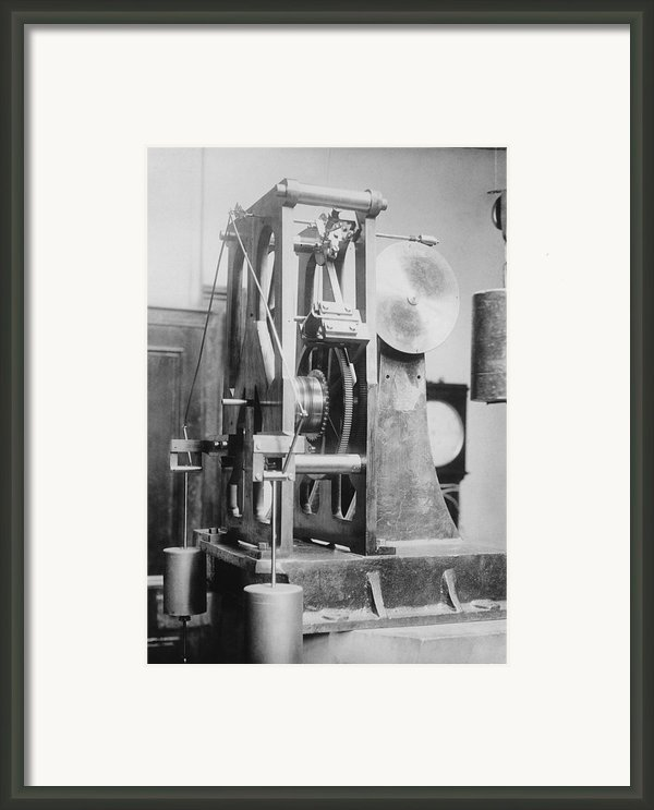 Telescope Clock, Sydney Observatory Framed Print By Science Photo Library