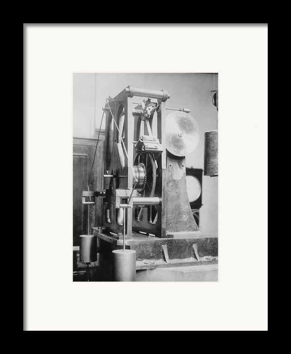 Telescope Clock, Sydney Observatory Framed Print By Science Photo Library