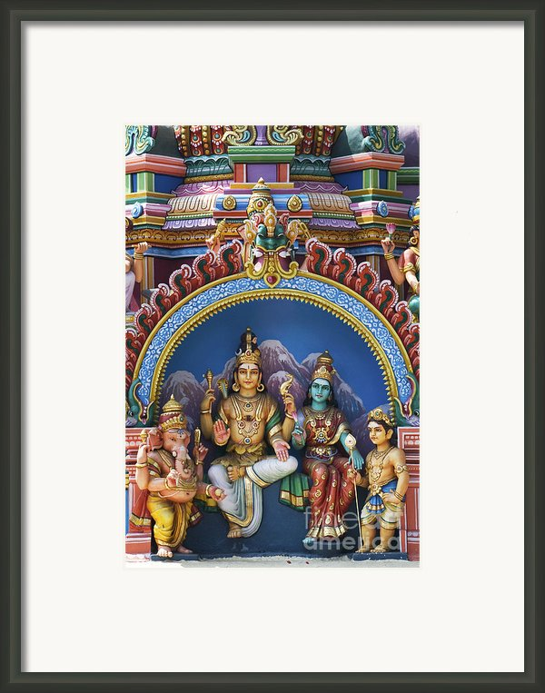 Temple Deity Statues India Framed Print By Tim Gainey