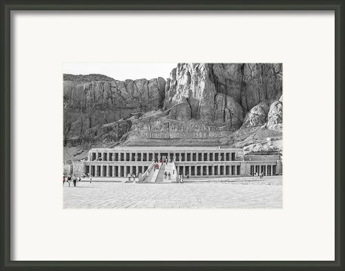 Temple Of Hatshepsut Framed Print By Erik Brede