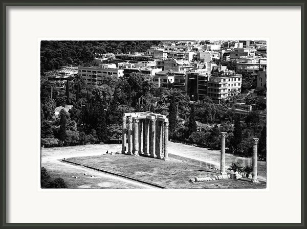 Temple Of Zeus Ii Framed Print By John Rizzuto