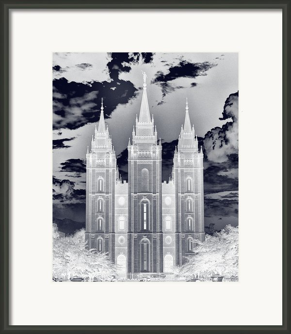 Temple Square Nightmare Framed Print By Joshua House