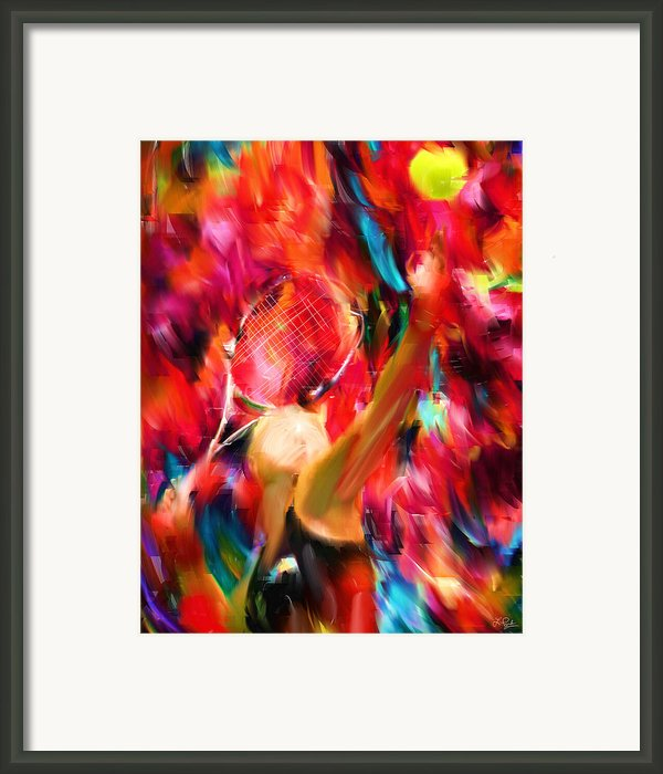 Tennis I Framed Print By Lourry Legarde