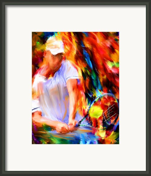Tennis Ii Framed Print By Lourry Legarde