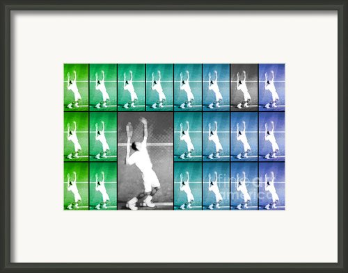 Tennis Serve Mosaic Abstract Framed Print By Natalie Kinnear