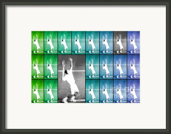 Tennis Serve Mosaic Abstract Framed Print By Natalie Kinnear