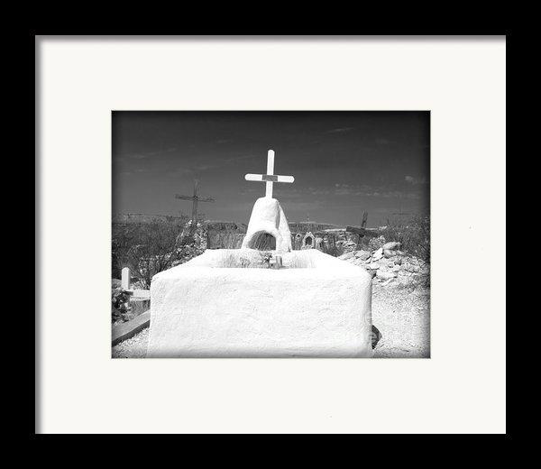 Terlingua Grave Framed Print By Sonja Quintero