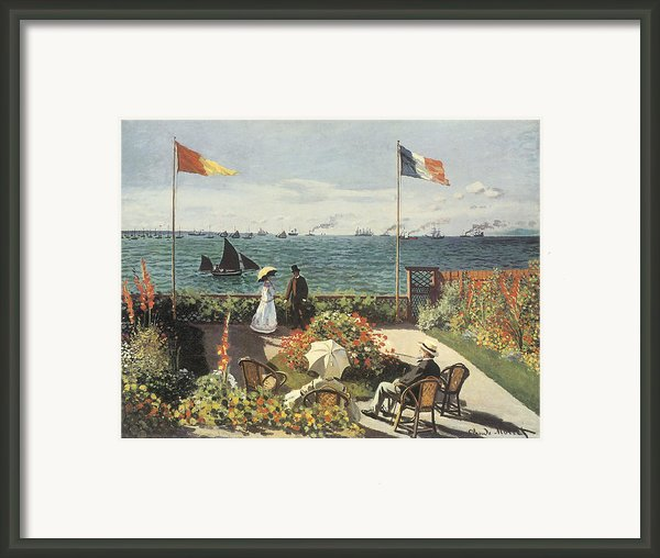 Terrace At Sainte-andresse Framed Print By Claude Monet