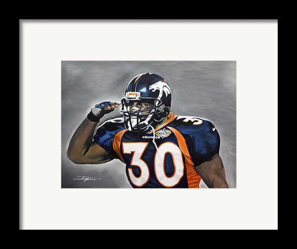 Terrell Davis  Framed Print By Don Medina