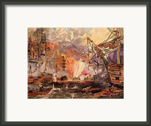 Terror On The High Seas Framed Print By Joe Mcclellan