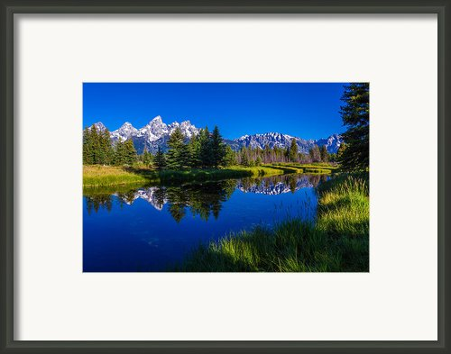 Teton Reflection Framed Print By Chad Dutson