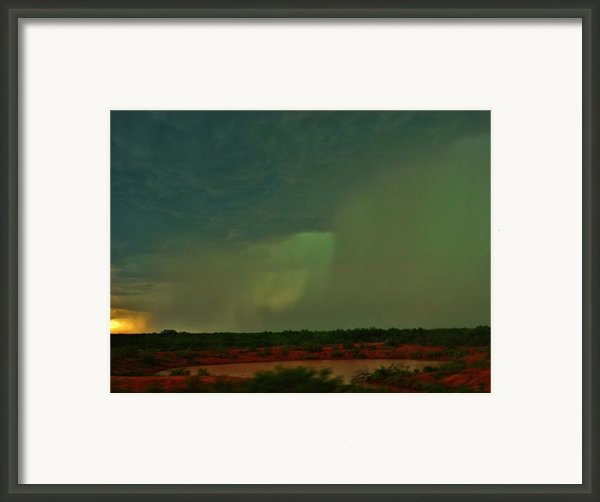 Texas Microburst Framed Print By Ed Sweeney