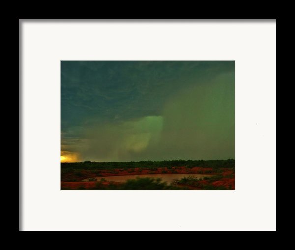 Texas Microburst Framed Print By Ed Sweeney