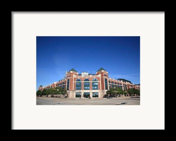 Texas Rangers Ballpark In Arlington Framed Print By Frank Romeo