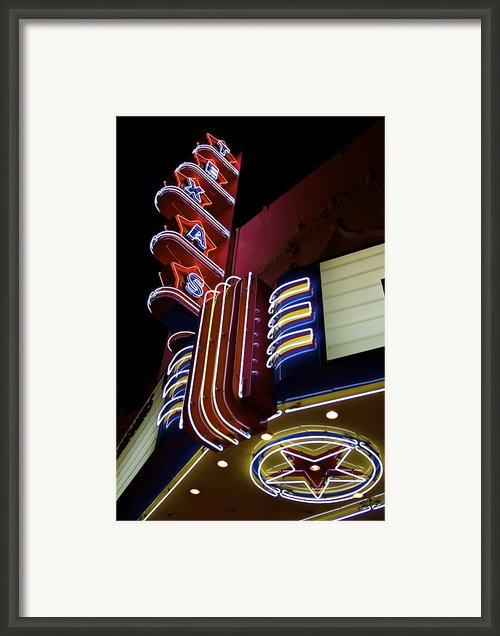 Texas Theatre Marquee Framed Print By John Babis