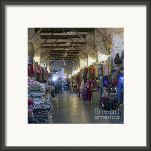 Textile Bazaar Framed Print By Paul Cowan