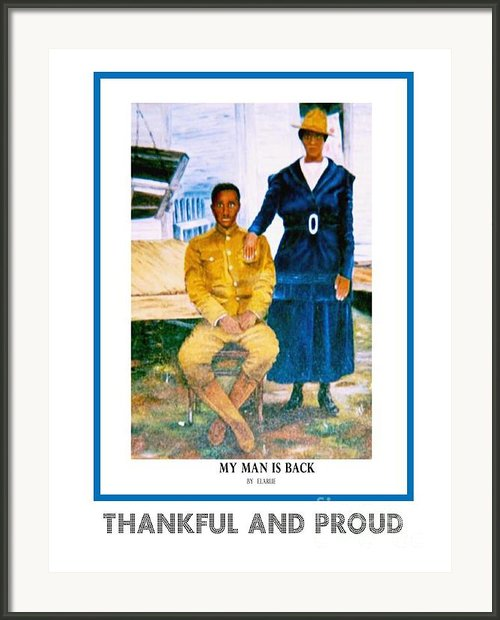 Thankful And Proud Poster Framed Print By E Larue