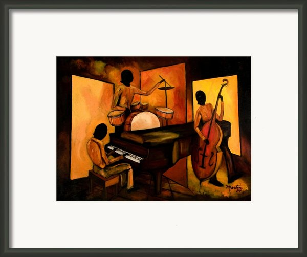 The 1st Jazz Trio Framed Print By Larry Martin