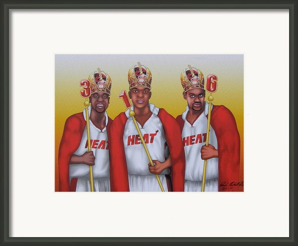 The 3 Nba Kings Framed Print By David Pedemonte