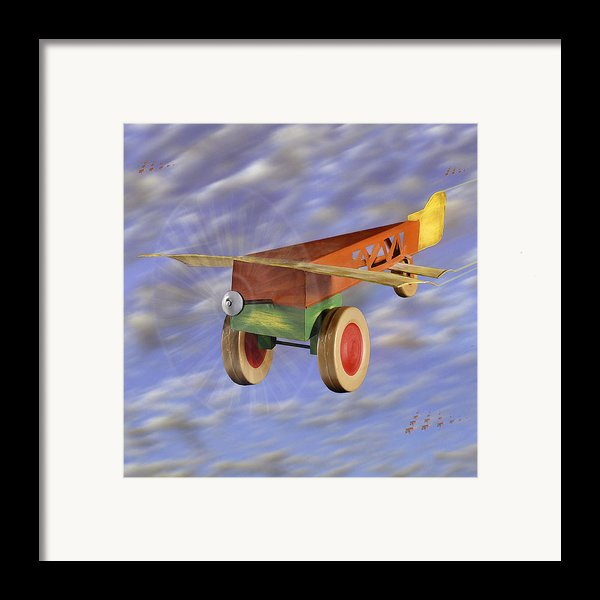 The 356th Toy Plane Squadron 2 Framed Print By Mike Mcglothlen