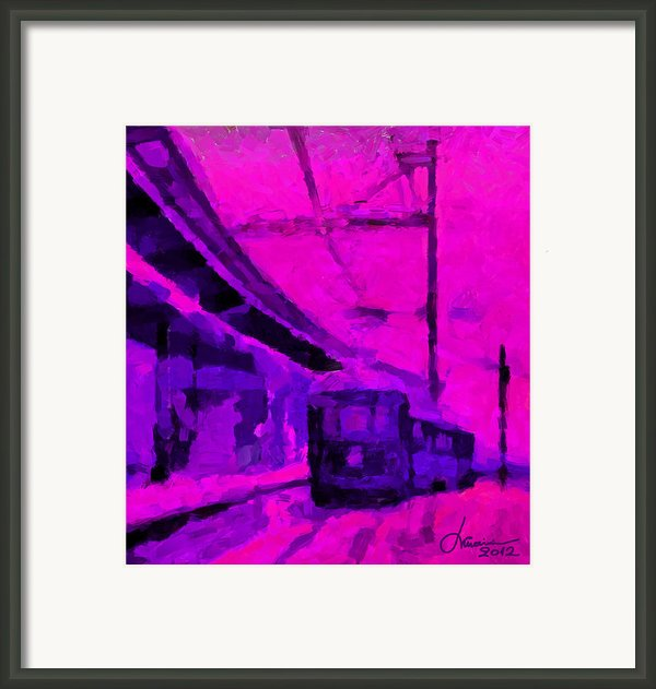 The 7am Train Tnm Framed Print By Vincent Dinovici