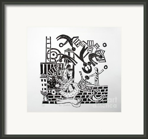 The Acrobats Framed Print By Barbara Sala