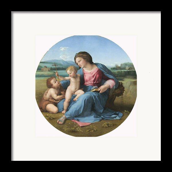 The Alba Madonna Framed Print By Raffaello Sanzio Of Urbino