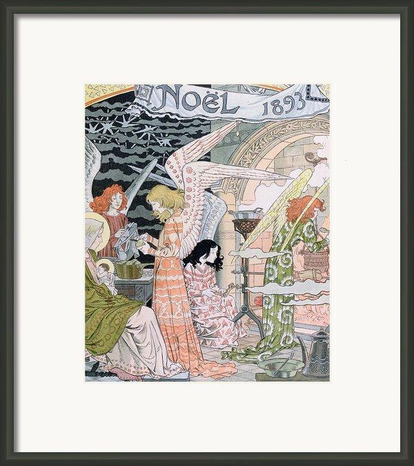The Angels Kitchen Framed Print By Eugene Grasset