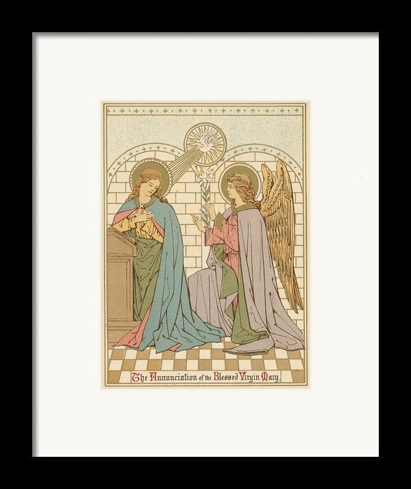 The Annunciation Of The Blessed Virgin Mary Framed Print By English School