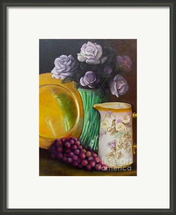The Antique Pitcher Framed Print By Marlene Book