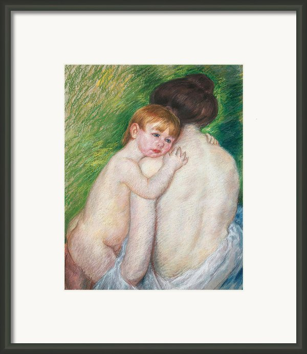 The Bare Back Framed Print By Mary Cassatt Stevenson