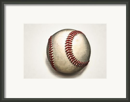 The Baseball Framed Print By Bill Cannon