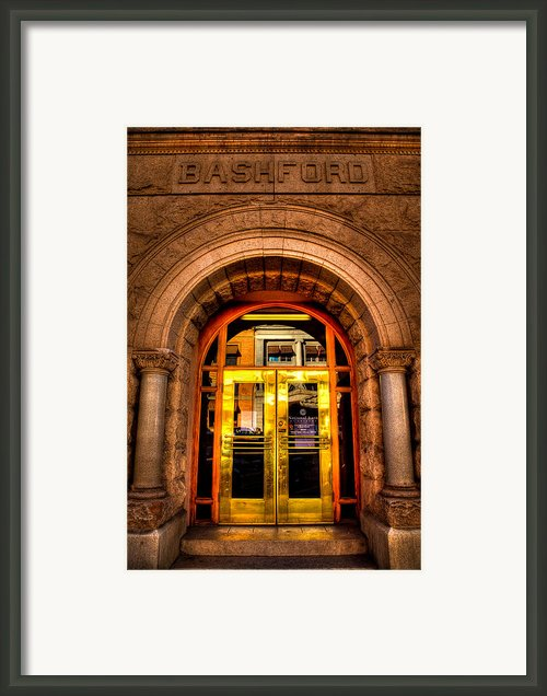 The Bashford Building Prescott Arizona Framed Print By David Patterson