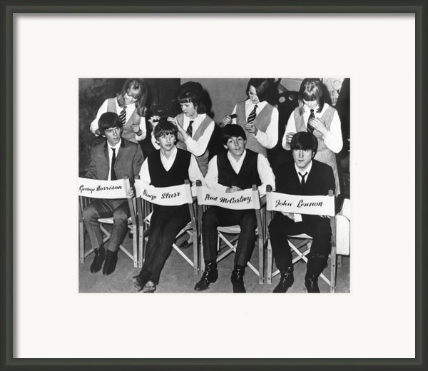 The Beatles Framed Print By Underwood Archives