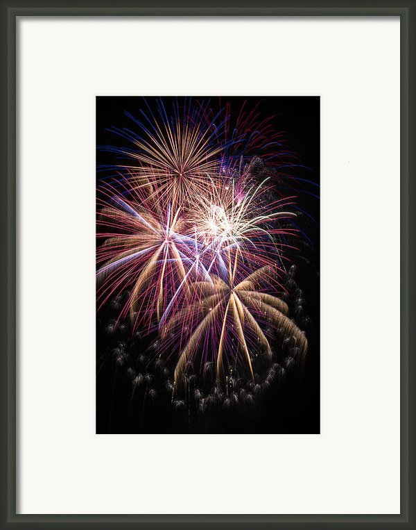 The Beauty Of Fireworks Framed Print By Garry Gay