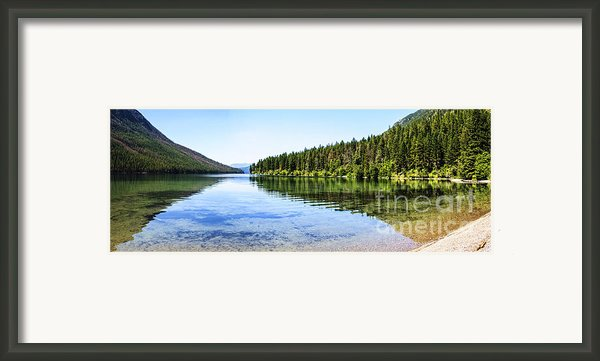The Best Beach In Glacier National Park Panorama Framed Print By Scotts Scapes