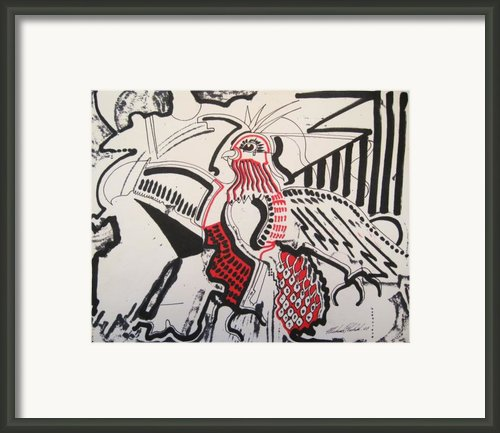 The Bird Of Pestilence Framed Print By Michael Kulick